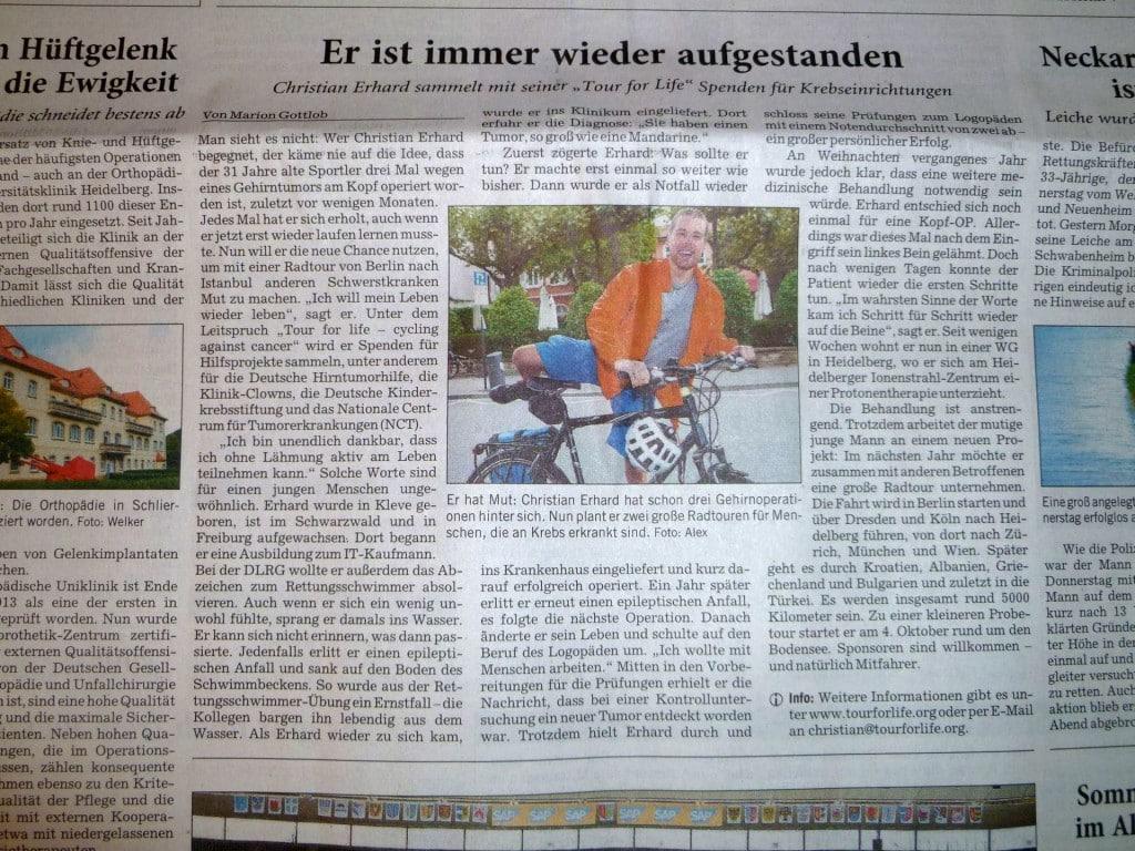 Rhein-Neckar-Zeitung vom 03.09.2014