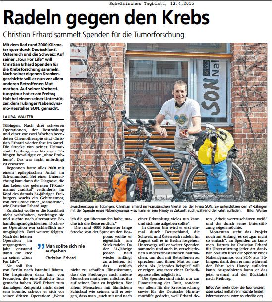 Schwäbisches Tagblatt 2015