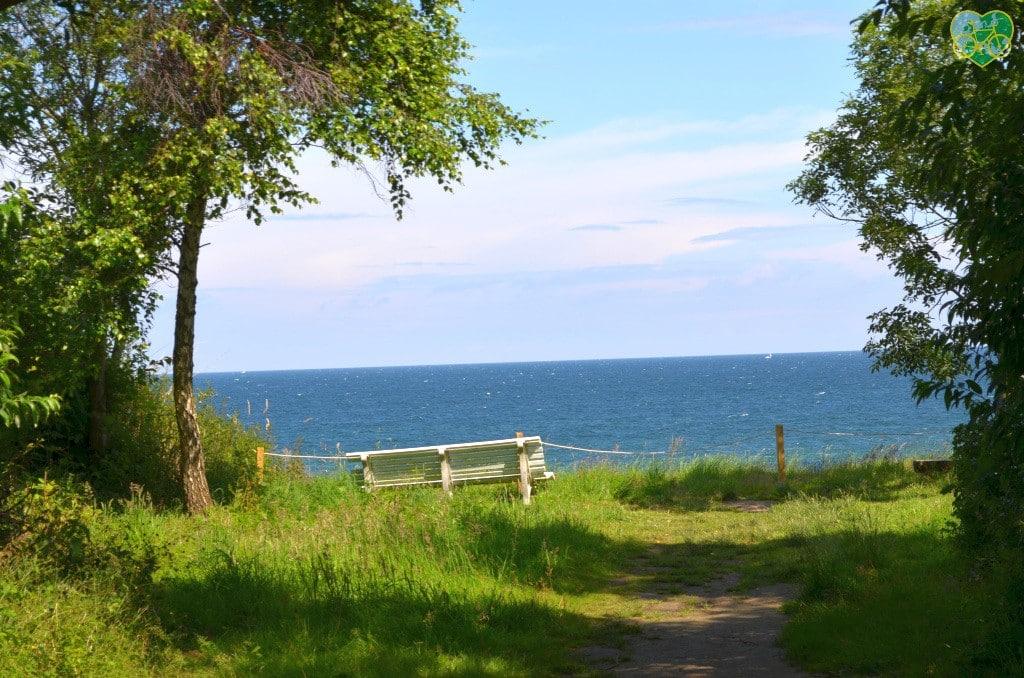 Sonnenbank - Blick auf die Ostsee